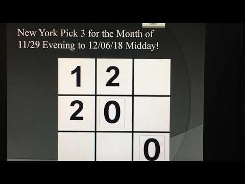 Secret Lottery System: Pick 3 Winning Numbers For December New York Tic Tac ToeSTER System!