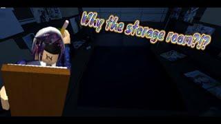 Dormindo em uma sala de armazenamento!   Vamos jogar! Roblox vida de um otaku! ROSTO REAVEL