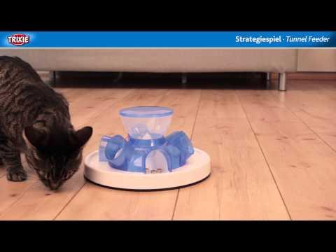 TRIXIE Heimtierbedarf - Cat Activity Strategiespiel Tunnel Feeder