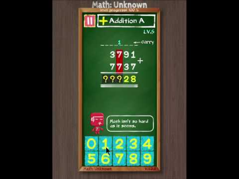 Math: Unknown | Step-by-step Math Game for those who seriously want to improve Math Skills
