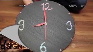 Diy - Industrial Chalkboard Wall Clock - D'sign