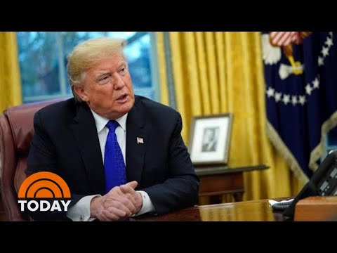 President Donald Trump Says He's 'Not Concerned' About Possible Impeachment | TODAY