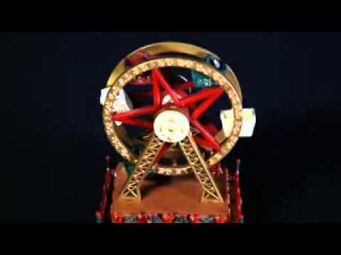 Christmas Ferris Wheel Music Box.Mini Ferris Wheel Music Box