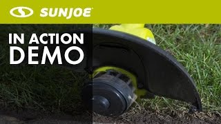 TRJ601E - Sun Joe Trimmer Joe 4-Amp 12-Inch Electric Grass Trimmer/Edger - Live Demo