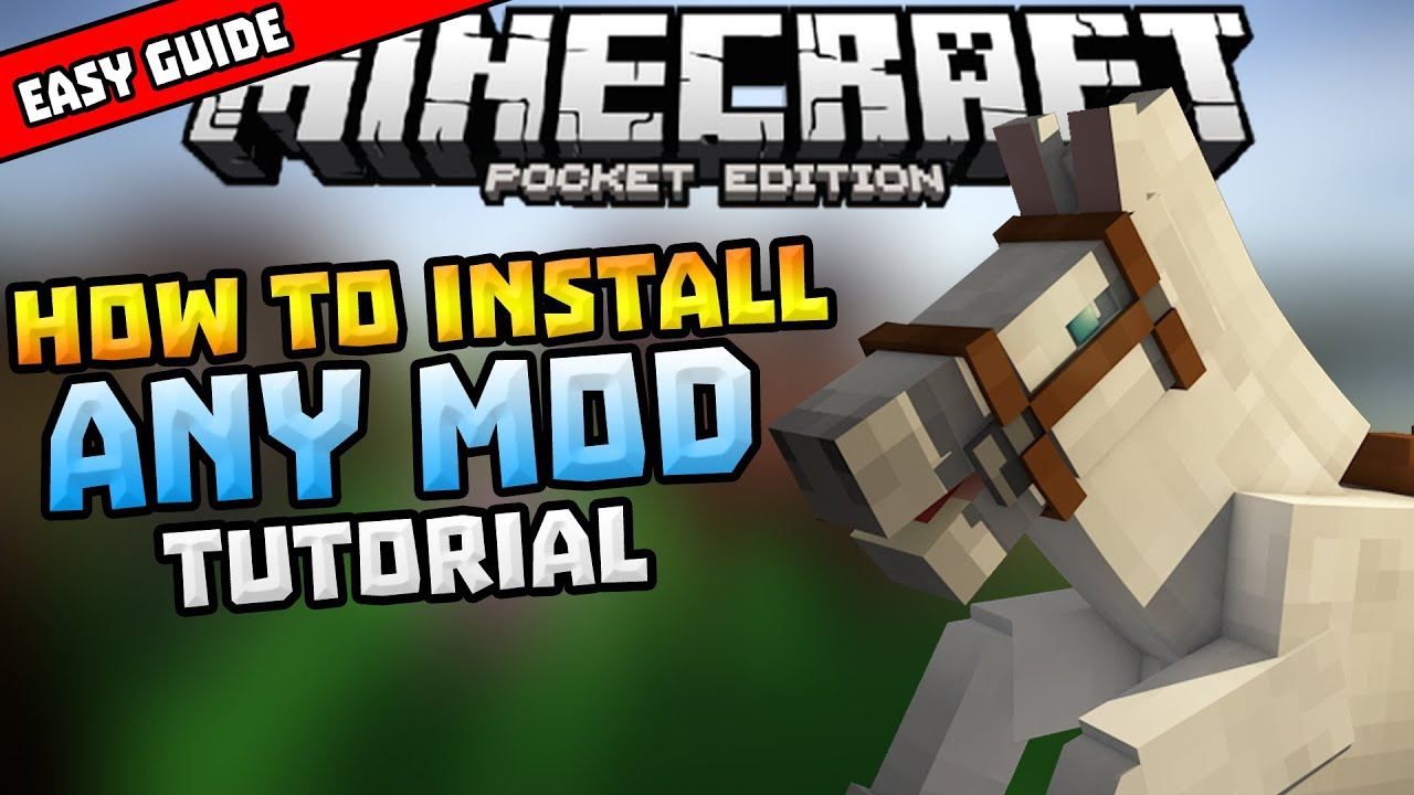 How To Install Mods In Mcpe Simple Installing Guide Minecraft Pe Pocket Edition Youtube