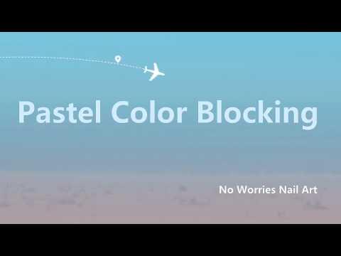 Pastel Color Blocking   Nail Art Tutorial thumbnail