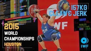 Sarah Robles | 157kg Clean & Jerk