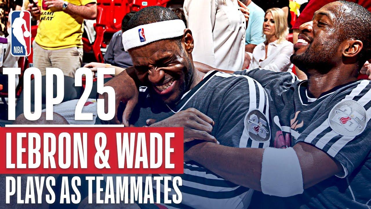 Dwyane Wade takes in last All-Star Game alongside former Heat teammate LeBron ...