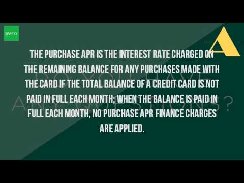 What Is A Purchase APR?