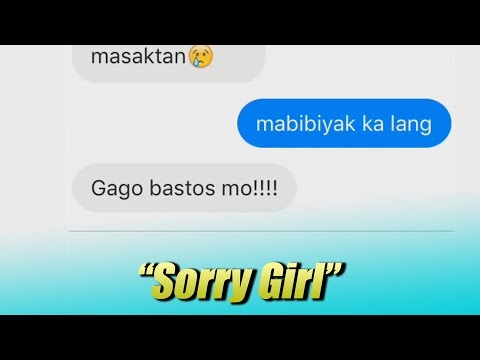 """Sorry Girl"" Tagalog Lyric Prank"