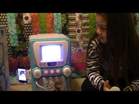 Disney Frozen Deluxe Karaoke Machine 2 Hit Songs From The Movie