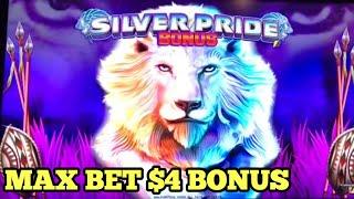***MAX BET $4.00 BONUS*** NEW SLOT Big Win on SILVER PRIDE - Heartbreaking POMPEII Games