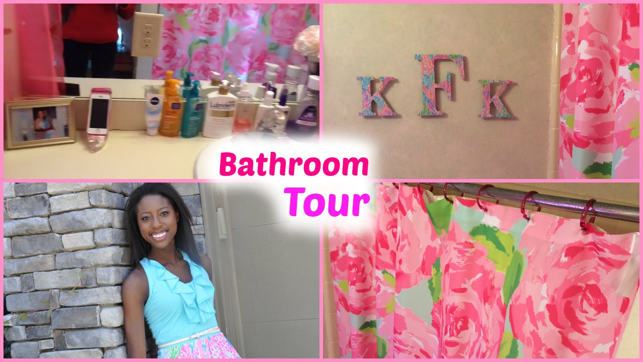 Bathroom Tour Ft. Lilly Pulitzer   YouTube
