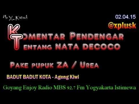 Komentar Nata De Coco Pake Pupuk ZA Urea | Badut Kota - Ageng Kiwi Lawak Radio Mr X Katrok @xplusk