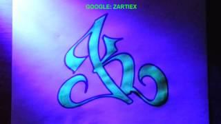 Como hacer letras 3D de graffitis faciles y sencillas - K