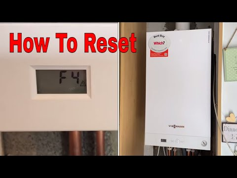 How To Reset Viessmann Vitodens 050 Combi Boiler - Service Mode And Gas Rate