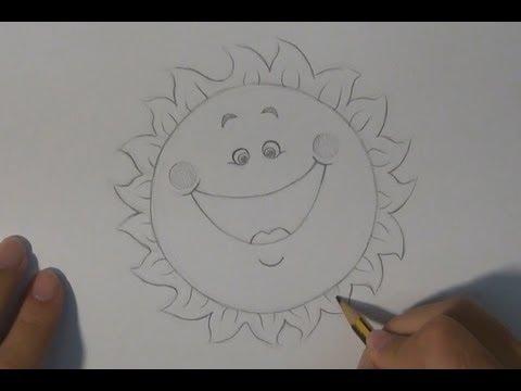 Dibujar un sol divertido  Draw a sun fun  YouTube
