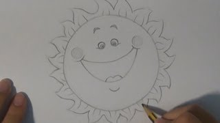 Dibujar un sol divertido - Draw a sun fun