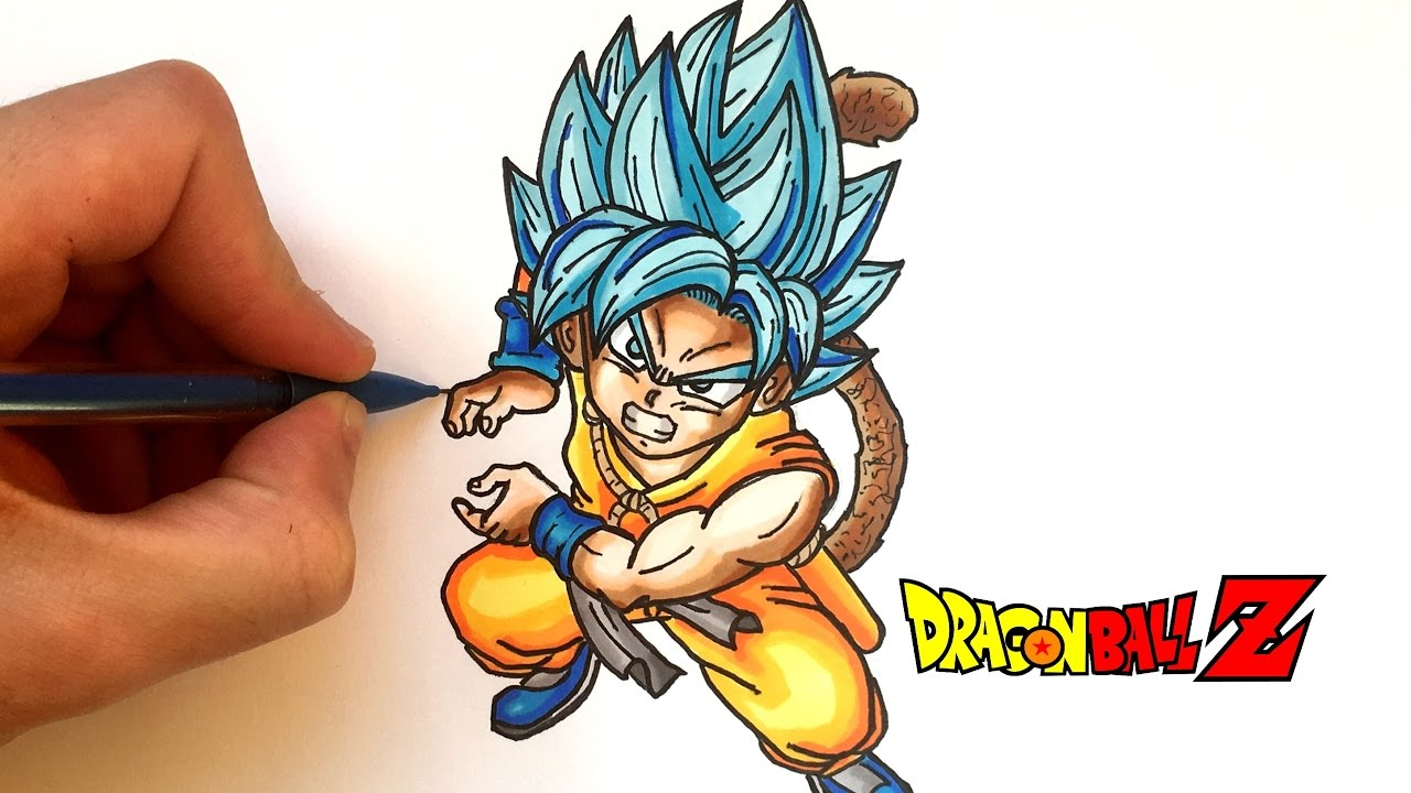 Dessin goku god kawaii dragon ball super youtube - Dessin sangoku ...