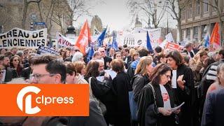 Manifestation des avocats contre la réforme de la justice (11 avril 2018, Paris)