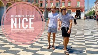 HUSBANDS EXPLORE NICE FRANCE   EUROPEAN CRUISE   Gay Couple   PJ and Thomas