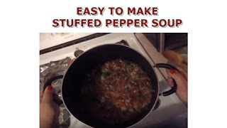 Easy To Make Stuffed Pepper Soup