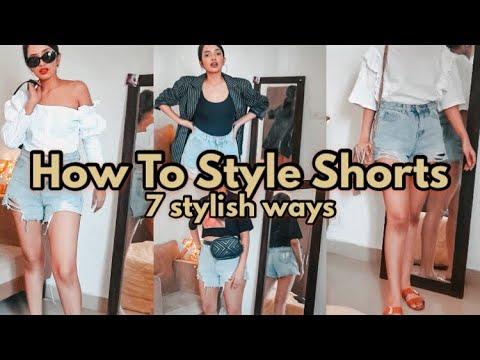 How To Wear Shorts, 7 stylish ways! | DIKSHA - YouTube