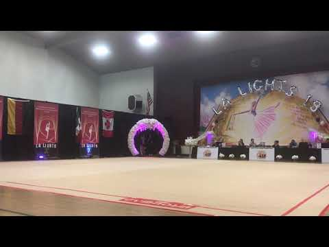 Isachenko Julia (Belarus) - 16.0 - Clubs - Level 10 Senior - LA Lights 2018