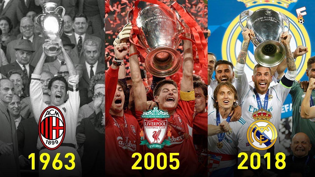 Uefa Champions League Winners 1956 2018 Footchampion