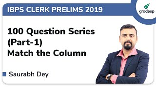YT G.A.M.E.R Series: Tricks to Solve Match the column for IBPS Clerk Prelims 2019