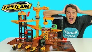Fast Lane Construction Site Playset ! || Toy Review || Konas2002