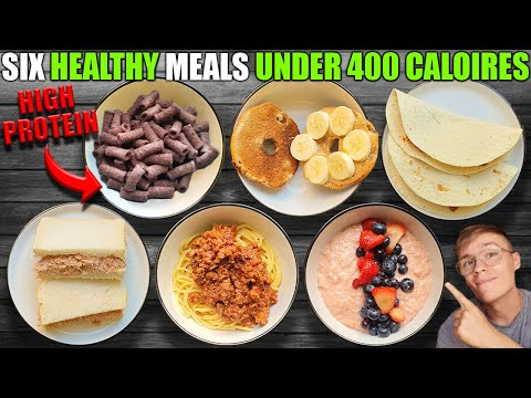 Six Healthy High Protein Meals Under 400 Calories **Easy**