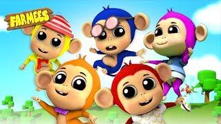Five Little Monkeys | Videos for Children | Songs for Babies