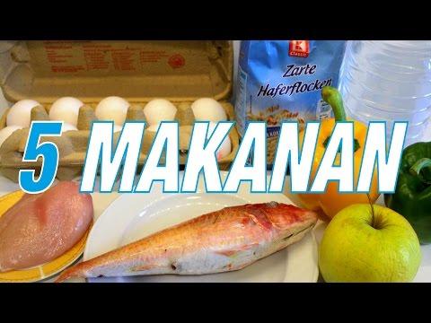 5 MAKANAN TERPENTING UNTUK JADI BEROTOT!!!!