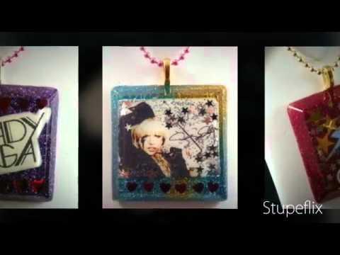 Resin inspired Lady gaga Pendants DIY Tutorial