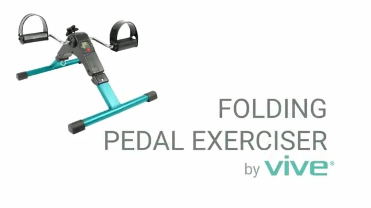 Folding Pedal Exerciser by Vive  Portable Arm  Leg Exercise Bike Peddler Machine  Desk