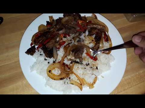 Hamburger Steak With Onions And Rice Thai-Style (V1163) Budget Gourmet Cooking