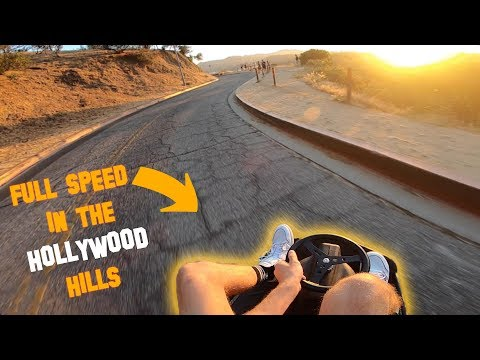FULL SPEED DOWN THE HOLLYWOOD HILLS! (INSANE)