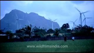 Wind farm in rural Kerala