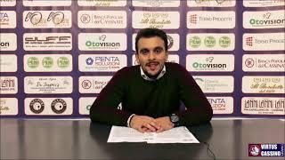 🎙DS Alberto Manzari: Post-partita BPC Virtus Cassino - Bisceglie