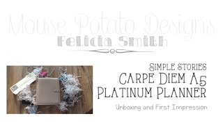 Simple Stories Carpe Diem Unboxing/First Impressions & GIVEAWAY