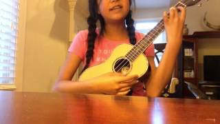 "Kate's cover song of High School Musical ""You are the music in me"" ukulele version!"