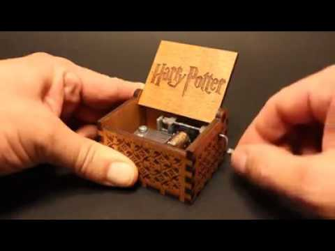 HP Hand Engraved Wooden Music Box