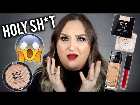 AHH! | FULL FACE DRUGSTORE/AFFORDABLE FIRST IMPRESSIONS! MAYBELLINE, FLOWER BEAUTY ETC.