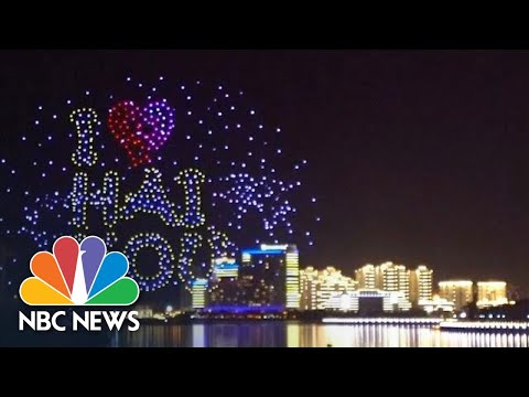 Illuminated Drones Create Spectacular Finale To Chinese Festival | NBC News