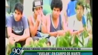 Campo de Marte es usado por jóvenes para fumar marihuana