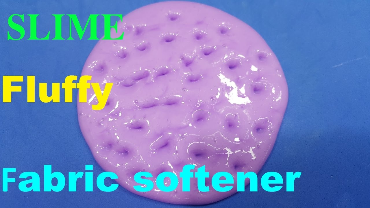 How Much Fabric Softener To Use Diy Slime With Fabric Softener How To Make Slime Fluffy With