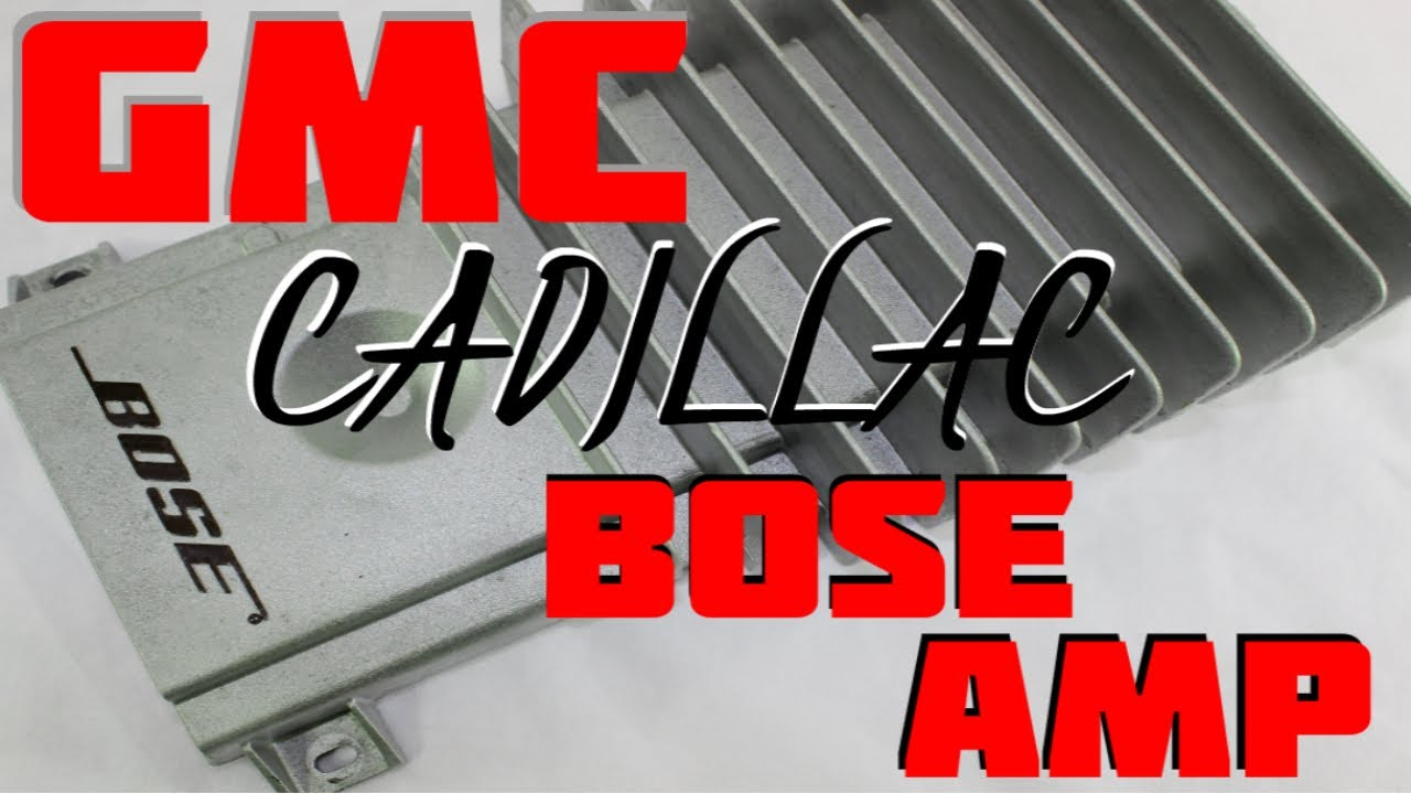 maxresdefault how to replace install gmc cadillac bose amp in a yukon escalade 2001 cadillac deville factory amp wiring diagram at gsmx.co