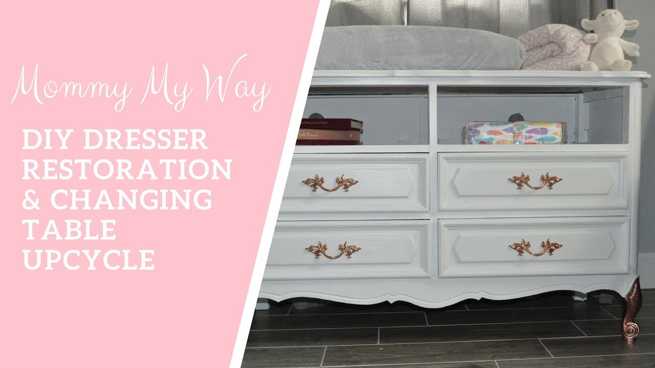 diy french dresser restoration upcycle changing table for nursery mommy my way