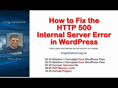 How to Fix the HTTP 500 Internal Server Error in WordPress